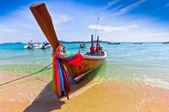 Long tailed boat in Thailand,PHUKET Royalty Free Stock Image