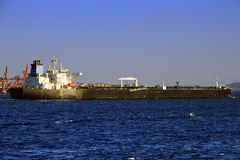 Long tanker ship Stock Photography