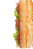 Long Tasty Baguette Sandwich Royalty Free Stock Photo