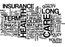 Long Term Care Health Insurance A Closer Look Text Background Word Cloud Concept vector illustration