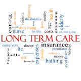Long Term Care Word Cloud Concept Stock Image
