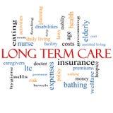 Long Term Care Word Cloud Concept Stock Image