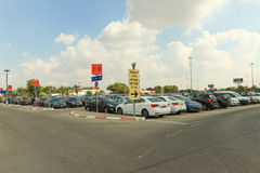 Long term parking at Ben Gurion airport Stock Images
