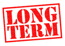 LONG TERM. Red Rubber Stamp over a white background Royalty Free Stock Photography
