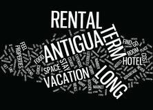 Long Term Rental In Antigua Text Background  Word Cloud Concept Royalty Free Stock Photos