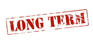 Long term. Rubber stamp with text long term inside,  illustration Stock Photo