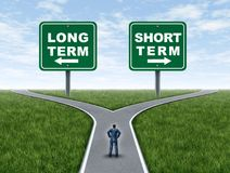 Long Term And Short Term Investing Stock Images