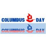 Long texte heureux de Columbus Day Photo libre de droits