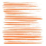 Long texture of dry brush strokes of orange paint Royalty Free Stock Images