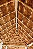 Long Thatched Roof Stock Photo