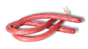 Long Thin Smoked Sausage Royalty Free Stock Images
