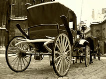 Long time Ago. Old carriage Stock Images
