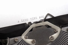A long time ago written on old typewriter Stock Image