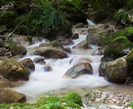 A long time exposure of the la Vence creek Stock Photos