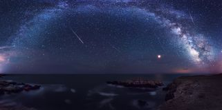 Milky Way and the Perseids Royalty Free Stock Photo