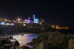 Long time exposure of Puerto de la Cruz promenade royalty free stock photos