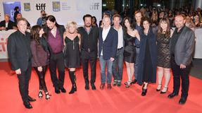 Directors, band-mates and Producers at TIFF17  for `Long Time Running` premiere , Tragically Hip. Long Time Running premiere at Roy Thomson Hall in Toronot. The Stock Photos