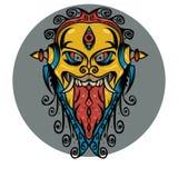 Long Tongue Demon Shirt Design Royalty Free Stock Photo