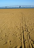 Long Tracks in the Sand Royalty Free Stock Images