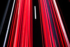 Long trails of car lights Stock Photography