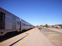 Long Train. The Ghan, running from Adelaide to Darwin Stock Photos