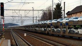Long train de voiture Photo stock