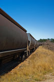Long Train Running. Coal Train Near Wallerawang, NSW Royalty Free Stock Photo