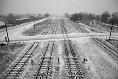 Long train tracks Stock Image