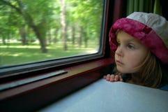Long train trip stock image