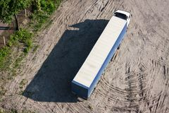 The long truck on parking Royalty Free Stock Images