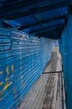 Long tunnel dans le ghetto Image stock