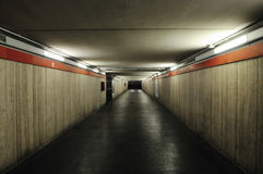 Long tunnel with gloomy light Stock Images
