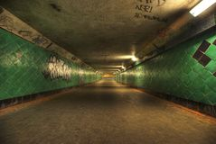 Long tunnel HDRI. Royalty Free Stock Photos