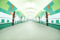 Long tunnel with lamps Royalty Free Stock Photos