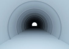 Long tunnel with light at the end Stock Image