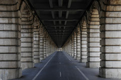 Long tunnel under bridge Stock Photos