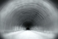 Long Tunnel With Dark End Stock Photos