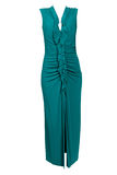 Long turquoise dress Royalty Free Stock Image