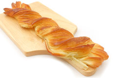 Long Twist Honey Danish Pastry Stock Photo