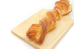 Long Twist Honey Danish Pastry Royalty Free Stock Image