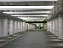 Long Underground Walkway Royalty Free Stock Photo