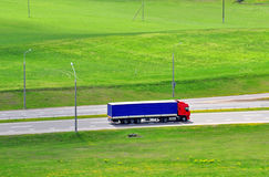 Long vehicle on road Stock Photography