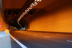 Long vehicles tunnels. In the city Royalty Free Stock Photo