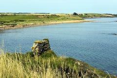 Long view of Elie coastline Royalty Free Stock Photos