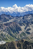 Long View. View from Pic du Midi, Central Pyrenees, France Stock Photos