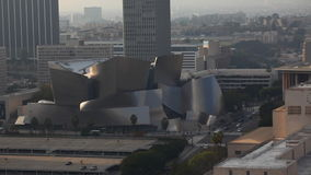 A long view of The Walt Disney Concert Hall in Los Angeles. Long view of The Walt Disney Concert Hall in Los Angeles stock footage