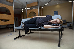 Long wait. At the hospital waiting room Stock Photography