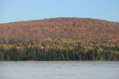Beautiful colors autumn, Tadoussac, Quebec Royalty Free Stock Photos