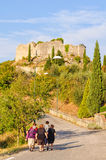 Long Walk Home - Castiglione d'Orcia Stock Photography