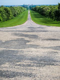 Long Walk Path to Windsor Castle outside of London. The long walk is a path that leads to Windsor Castle outside of London, England Stock Photo